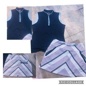 Adidas ClimaLite Golf Shirt & Skort